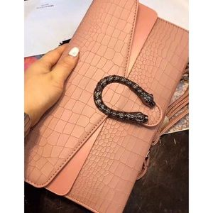 Handbags - JUST IN !!! APRICOT DESIGNER INSPIRED CLUTCH